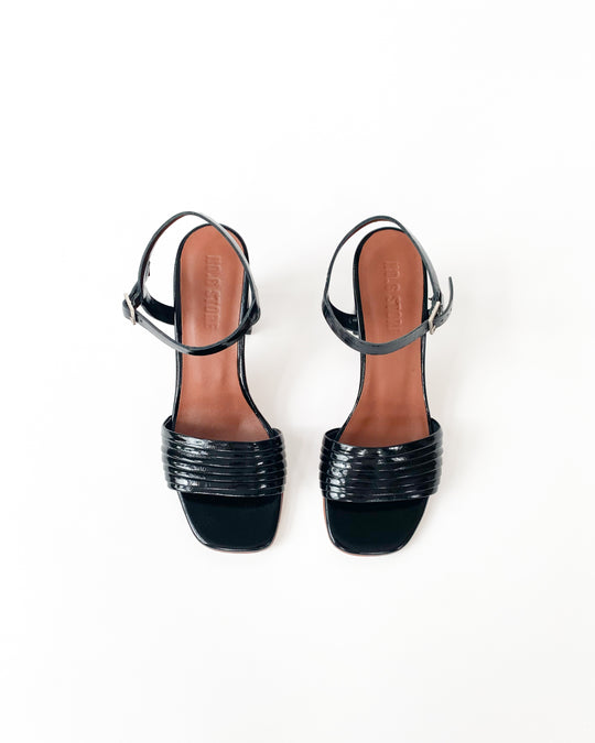 Prague Sandal in Ink Leather