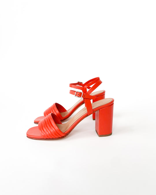 Prague Sandal in Red Kidskin
