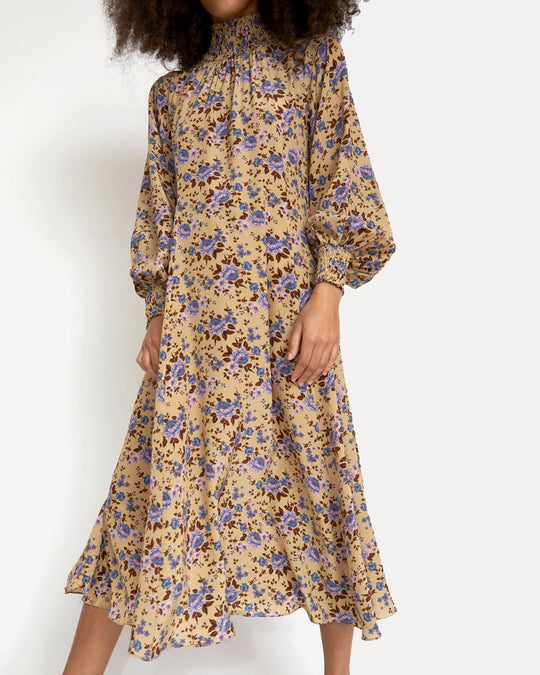 Reid Dress in Camel Bouquet