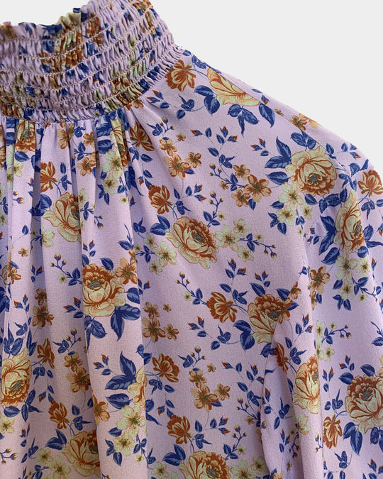 Thea Blouse in Lilac Bouquet
