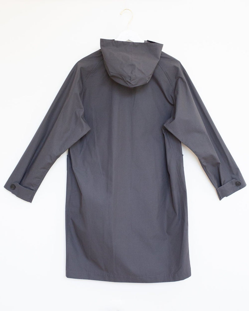 Kerry Raincoat in Charcoal Ventile