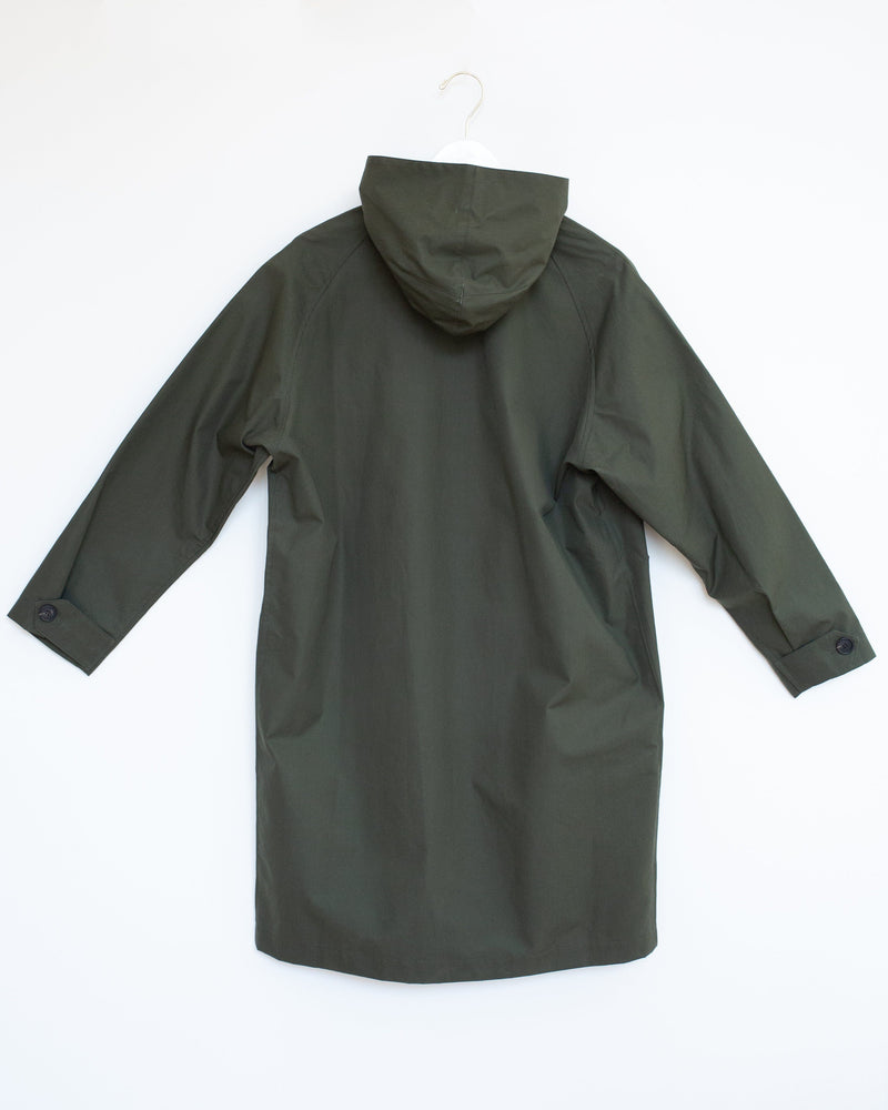Kerry Raincoat in Olive Ventile