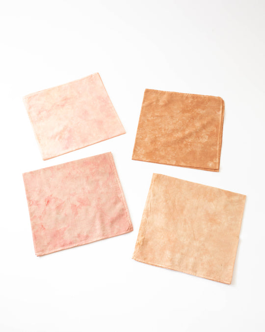 Plant Dyed Bandana in Pink Wash