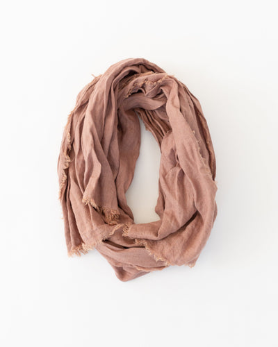 Plant Dyed Scarf in Terra Cotta