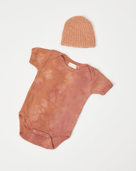 Plant Dyed Baby Onesie in Clay