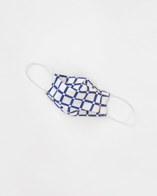 Alice Mask in Blue Grid Voile