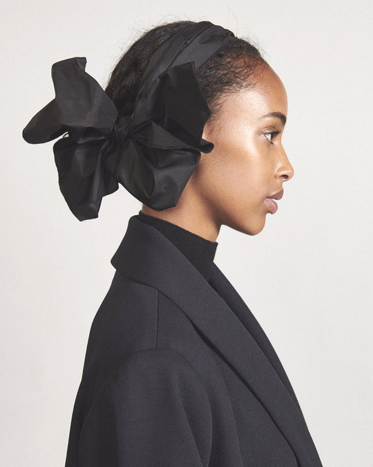Bow Headband in Black