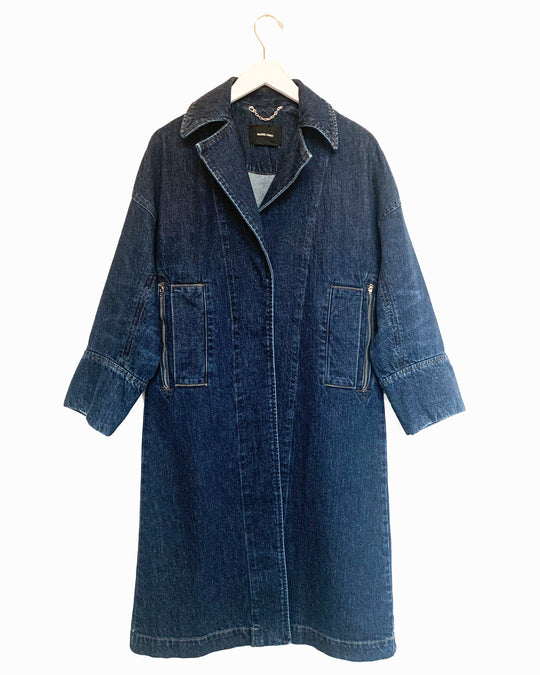 Sassen Trench in Indigo