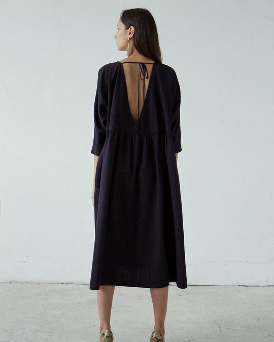 Oust Dress in Black Foam