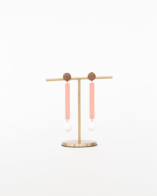 Track Earrings in Candy Pink
