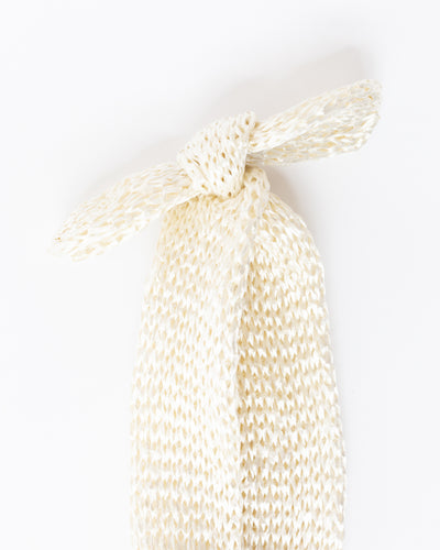 Bow Straw Headband in Cream