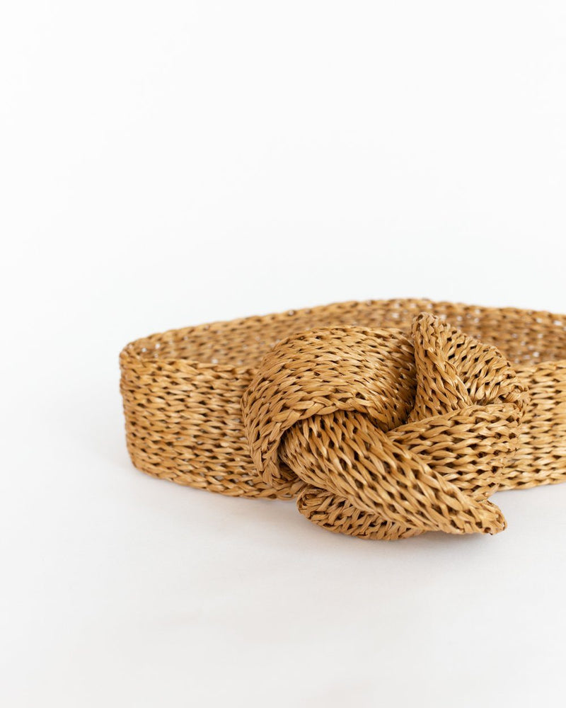 Rox Straw Headband in Camel