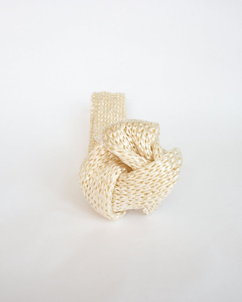 Rox Straw Headband in White