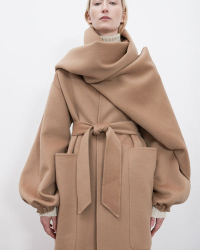 Monk Coat in Camel