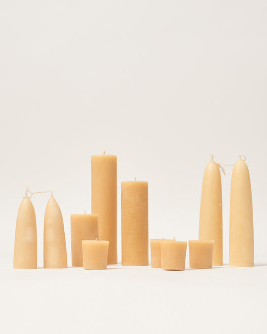 Organic Beeswax Stubby Tapers