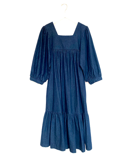 Big Sur Dress in Indigo