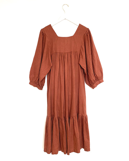 Big Sur Dress in Redwood