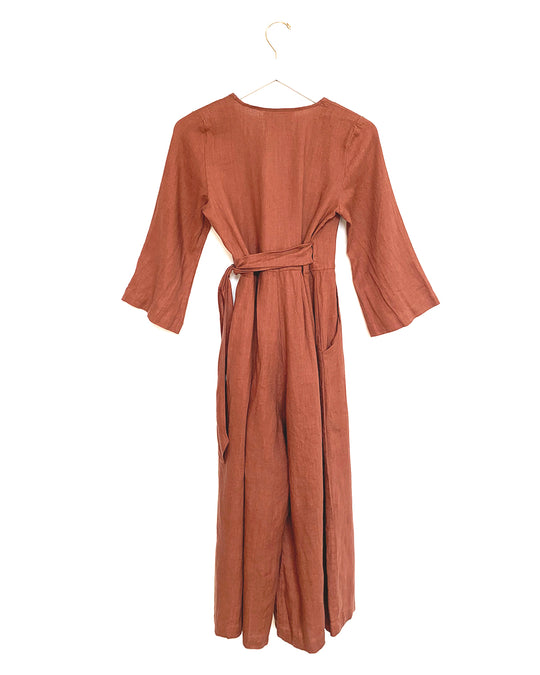 Marigold Jumpsuit in Redwood