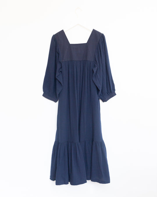 Nepenthe Dress in Navy