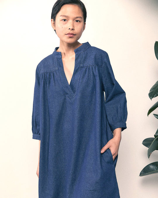 Sabine Dress in Indigo