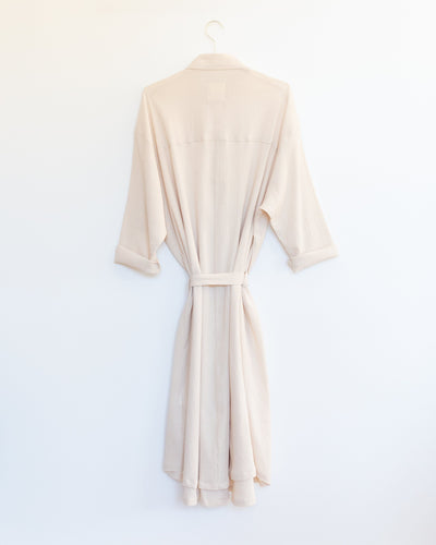 Shirt Dress in Beige