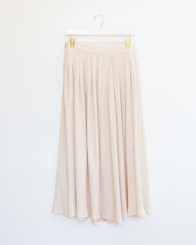 Crinkle Skirt in Beige