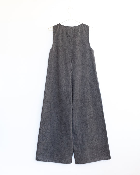 Big Mac Jumpsuit in Anthracite Stripe