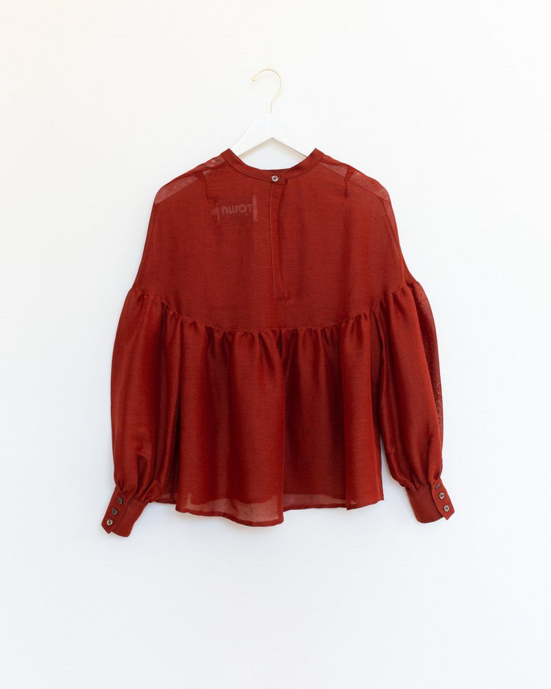 Salima Blouse in Garnet