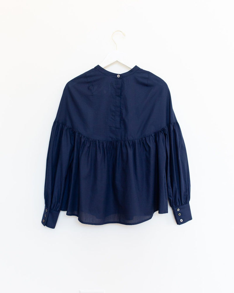 Salima Blouse in Indigo