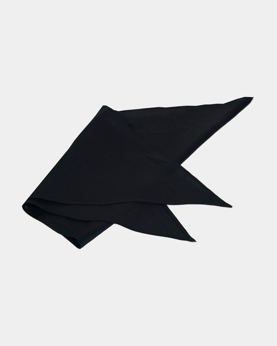 Triangle Scarf in Black Linen