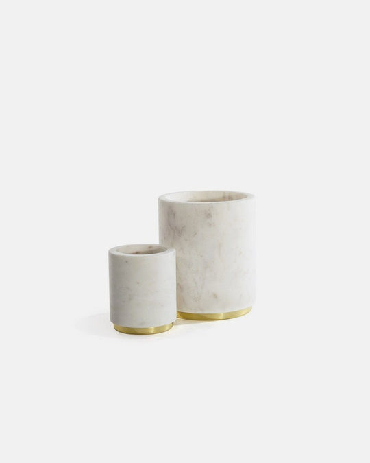 Mara Marble & Brass Utility Canister