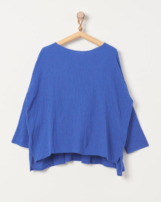 Cotton Wool Pullover in Royal Blue