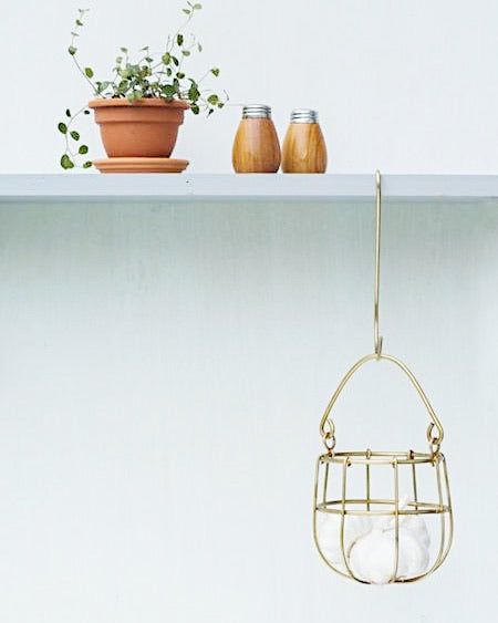 Small Brass Hanging Basket