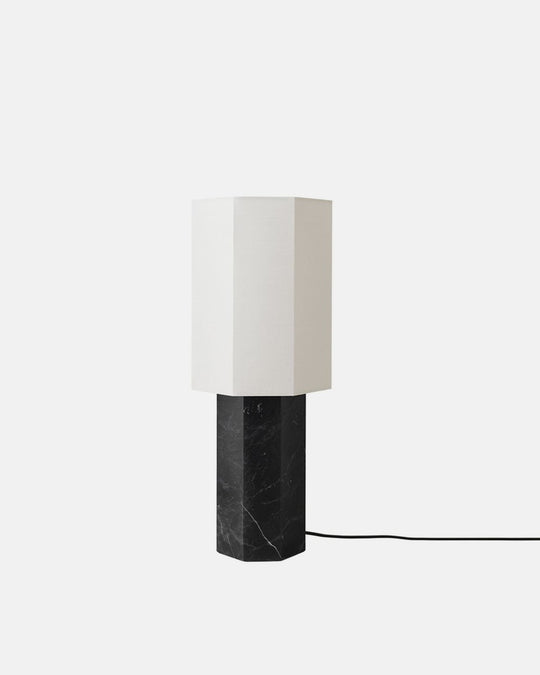 Small Black Marble Table Lamp