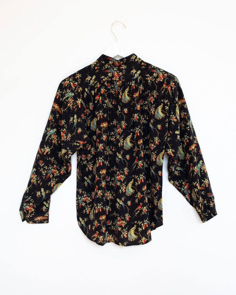 Quincy Shirt  in Black English Peasant