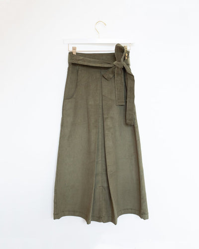 Corduroy Skirt in Olive