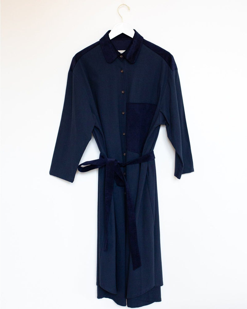Shirt Dress in Indigo