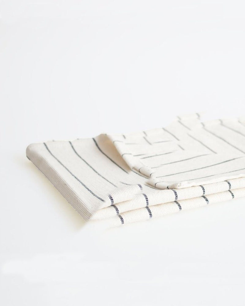 Natural & Navy Cotton Stripe Tea Towel
