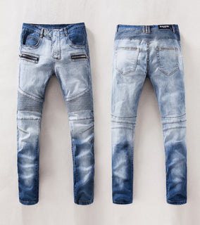 Balmain Blue Distressed Jeans