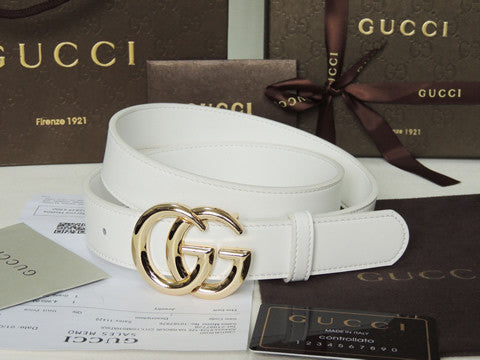 Authentic Gucci GG Leather Belt