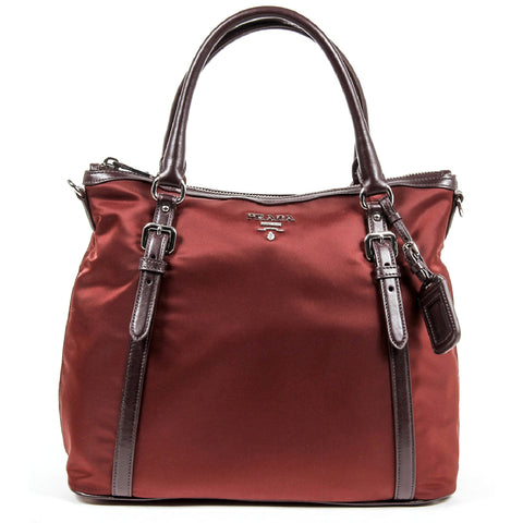 Prada Ladies BR5116 Tessuto + Soft Calf Tote Handbag