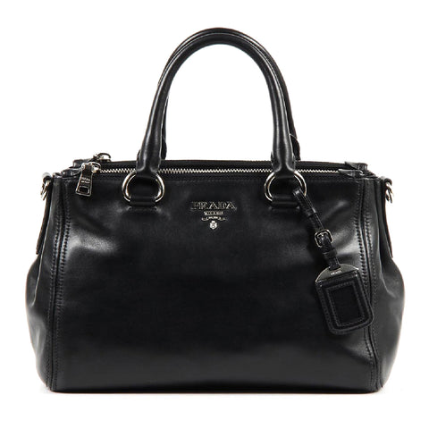 Prada shopping tote handbag BN2866 Nero Soft Calf