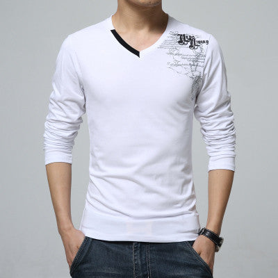 Fourkings Casual V-Neck Cotton T-Shirt
