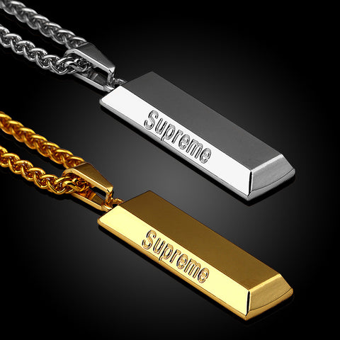 2pcs Silver/Gold Plated Long Supreme Necklace