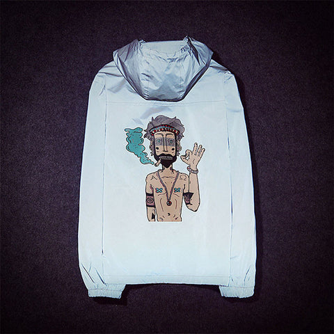 FourKings Cartoon Windbreaker