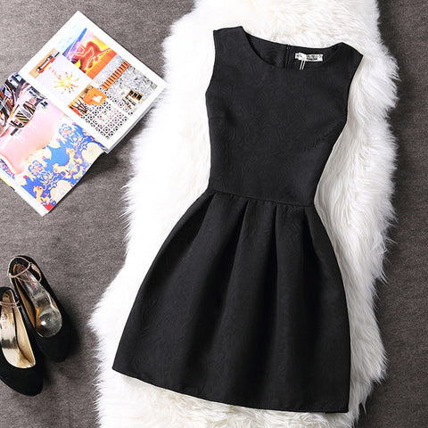 Print Style Sleeveless Vest Casual Dress