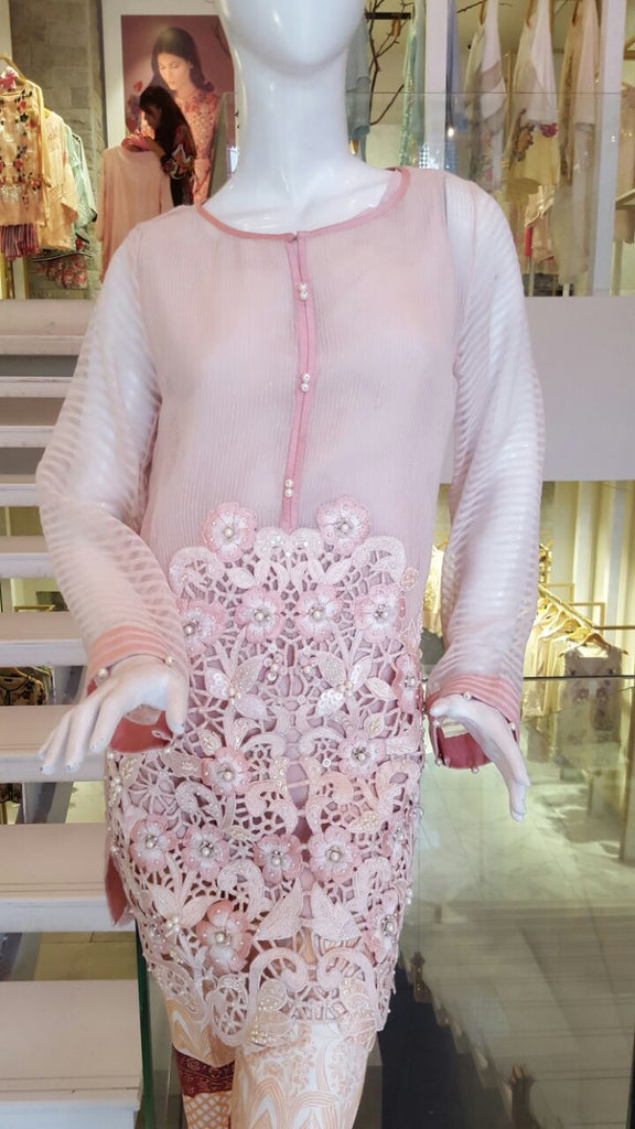 Pink Cutwork - Ready to Ship