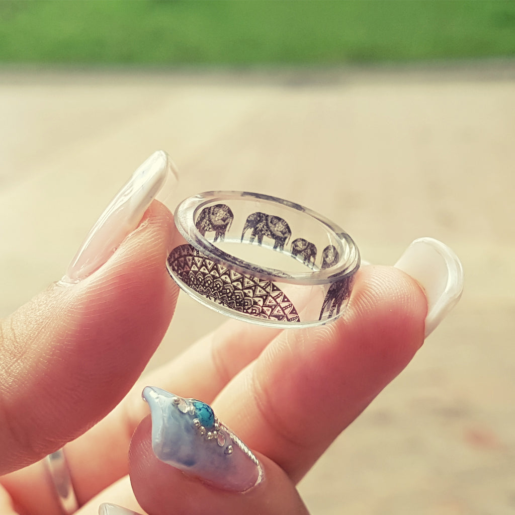 Elephant Ring, Mandala Designs, Animals jewelry art