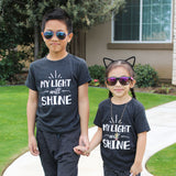 """MY LIGHT WILL SHINE"" UNISEX TEE: TRIBLEND BLACK"