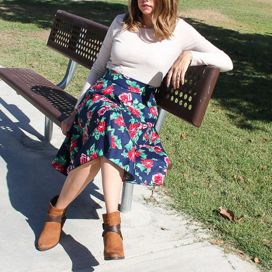 FLORAL A-LINE SKIRTS